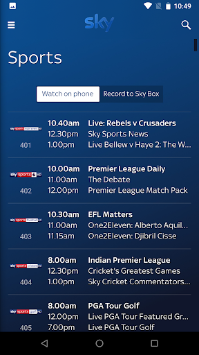 Sky Go PR17.3.7-1100 screenshots 2