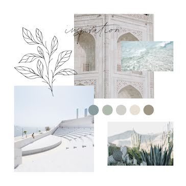 Blue Glass Mood Board - Mood Board Template