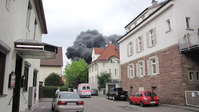 Photo: Bedrohliche Rauchwolken in der Leonberger Straße