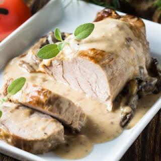 Succulent Mushroom Gravy Pork Roast