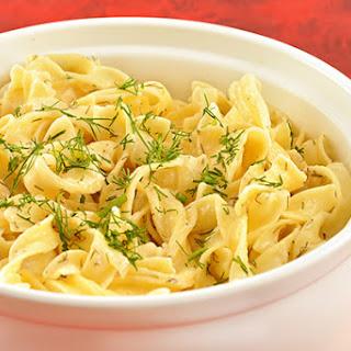 Sour Cream-Dill Noodles.