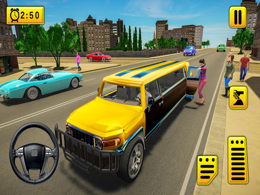 Limousine Taxi 2020: Luxury Car Driving Simulator android2mod screenshots 2