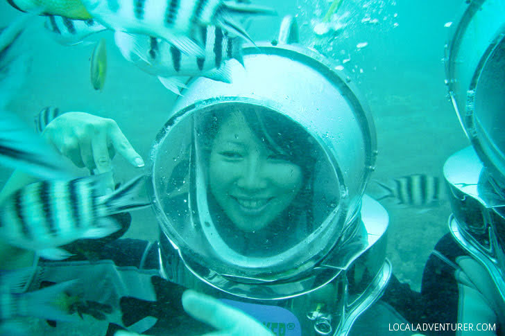 Helmet Diving Indonesia (Bali Activities).