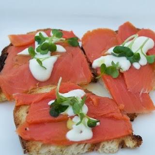Smoked Salmon & Horseradish Canape
