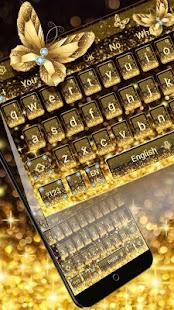 Gold Butterfly klávesnice Téma - náhled