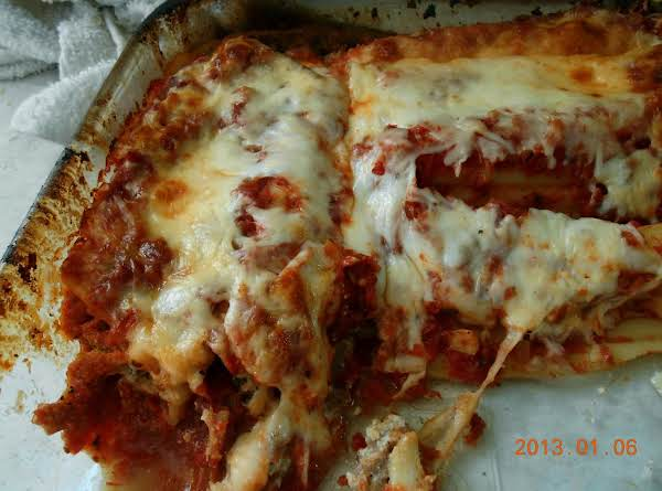 Sausage & Three-cheese Stuffed Manicotti
