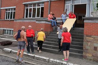 """Photo: Entre le départ des """" longues distances """" et l'arrivée des marcheurs de l'après-midi."""