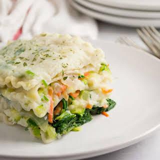Vegan White Lasagna.