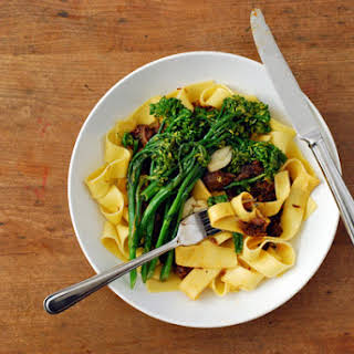 Beef Shank Ragu With Broccolini.