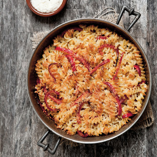Fusilli with Three Cheeses and Red Bell Pepper Recipe