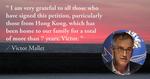 馬凱:感謝港人聯署聲援 過去七年香港是我家