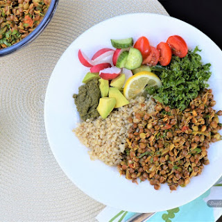 Sprouted Red Lentil, Quinoa Nourish Bowl.