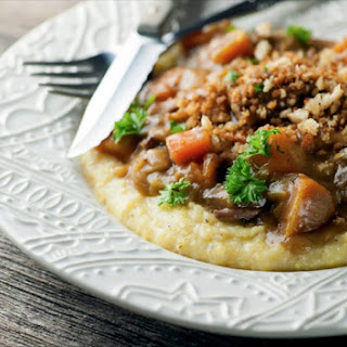 Slow Cooker Beef Stew with Crispy Breadcrumbs