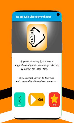 usb otg audio video player checker 8.1 Screenshots 1