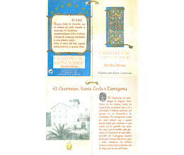 Photo: Le livret qui accompagne la bouteille d'épiscopale du IIIème Millénaire. L'intérieur précise le lien entre la ville de Tarragone et la liqueur des Chartreux... On y aperçoit l'ancienne distillerie.