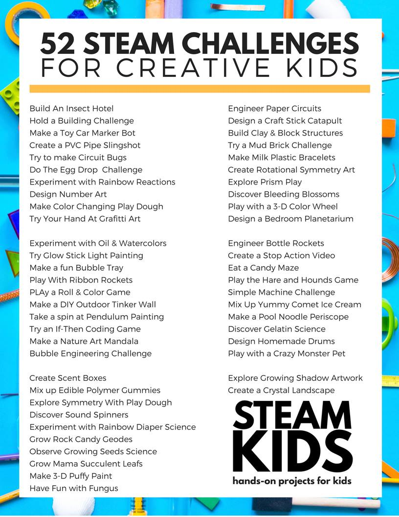 52 Weeks Of Amazing Steam Projects That Will Inspire Your Kids To