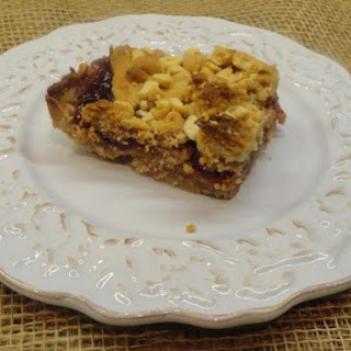 Double Crunch Peanut Butter and Jam Bars