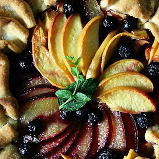 Plum and Peach Galette