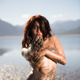 Come play! by Jason Elphick - Nudes & Boudoir Artistic Nude ( water, hand, model, topless, lingerie, summoned, art, pov, temptress )