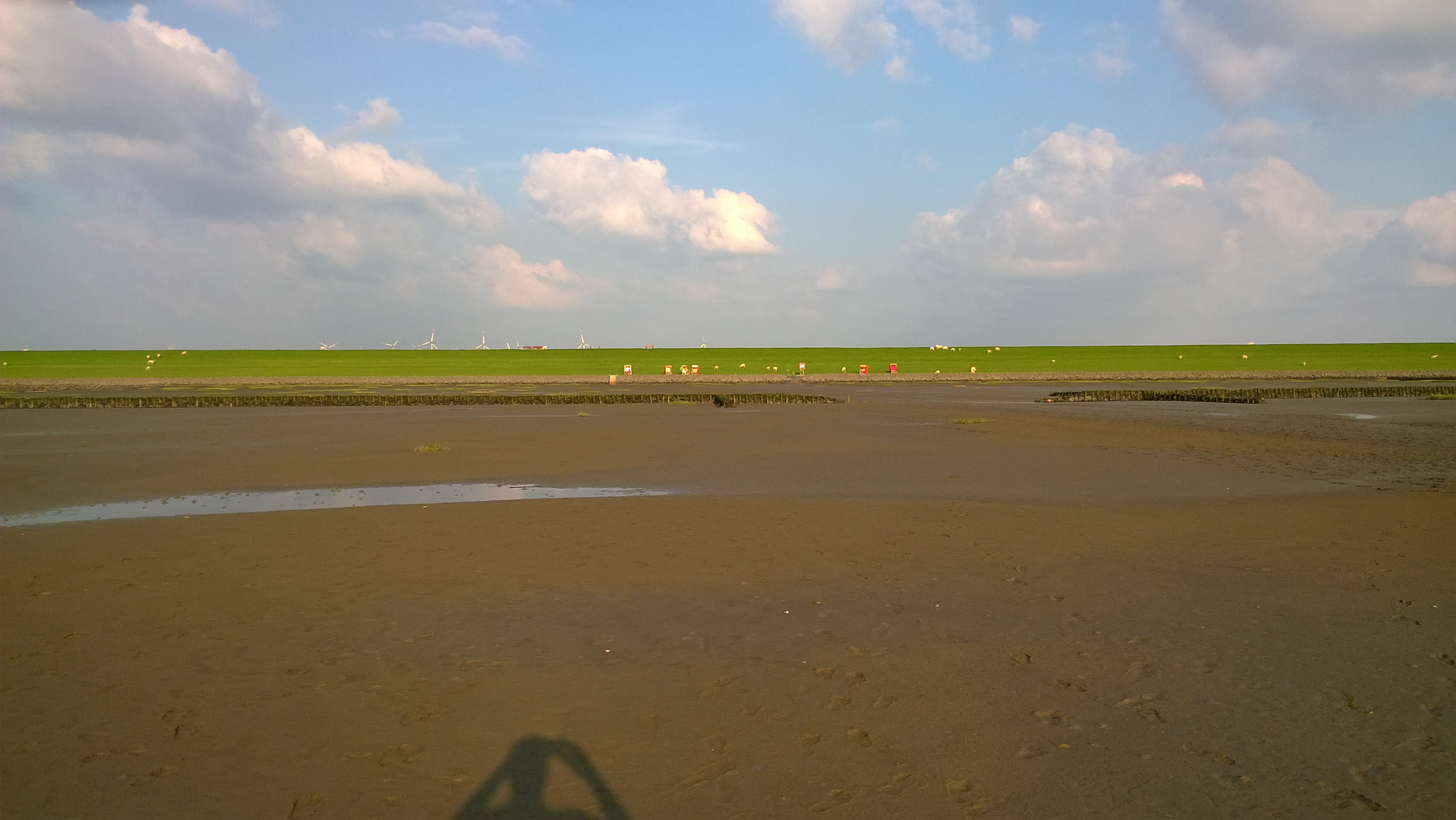 Photo: Blick auf Badestelle Westerkoog