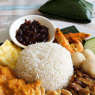 Nasi Lemak, Coconut Rice from Singapore and Malaysia.