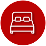 Queen Size Bed Icon