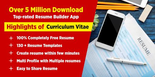Resume Builder App Free CV Maker with PDF Format 6.6 screenshots 1