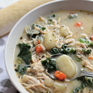 Chicken and Kale Gnocchi Soup.