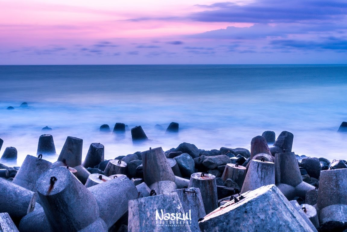 Long exposure sunset Pantai Glagah Kulonprogo