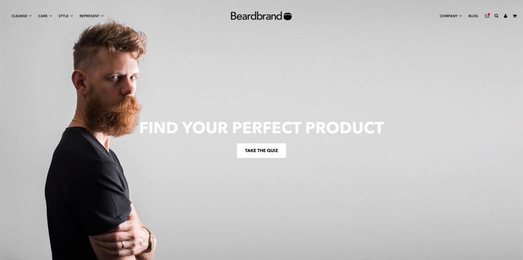 beardbrand landing page