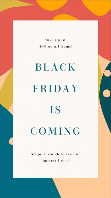 Black Friday Is Coming - Facebook Story Template