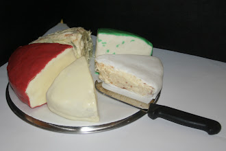 Photo: A Lactose-free Cheese (Board) CakeMade especially for Jess' brother in law who likes cheese on his birthday, but lactose-free so his wife could enjoy it too.