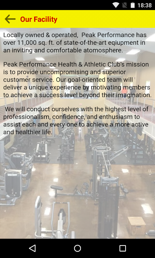 Peak Performance Health & Athl- screenshot