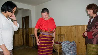 Photo: Unsere Gastgeberin arbeitet in der Textilbranche...