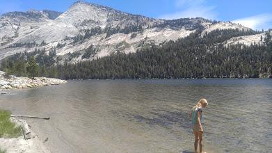 Photo: Natalie at Tenaya Lake.