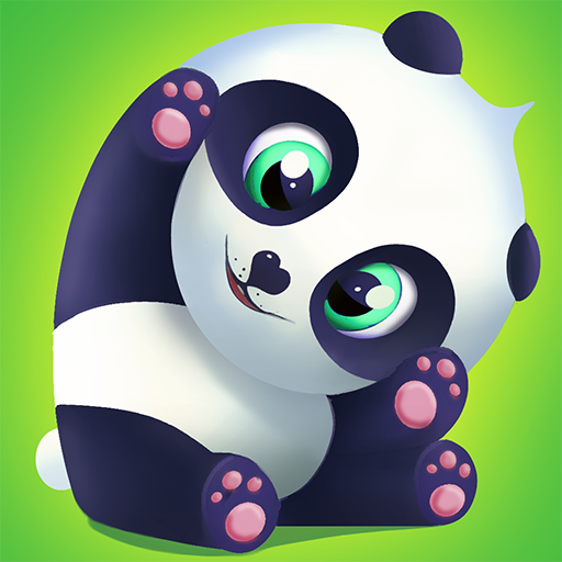 Pu - Cute giant panda bear, virtual pet care game