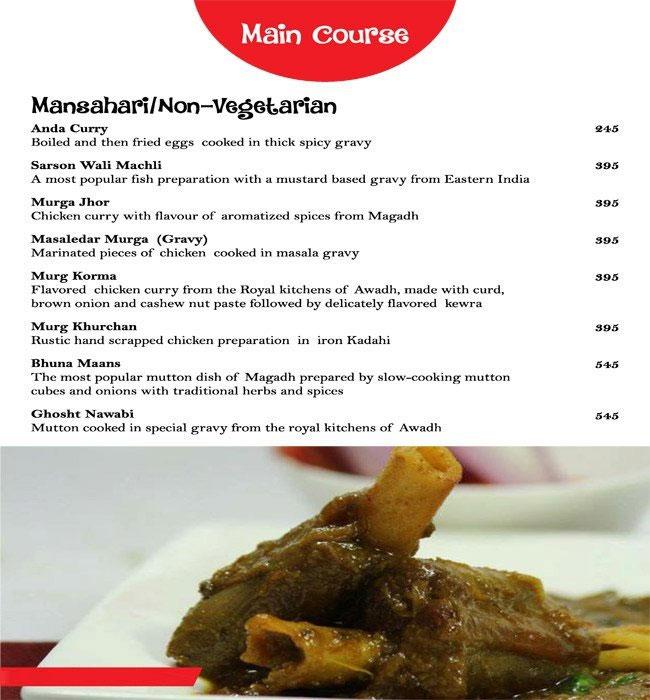 Magadh & Awadh menu 8