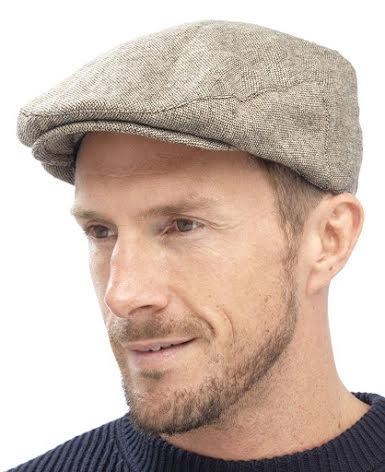 Brun flat cap