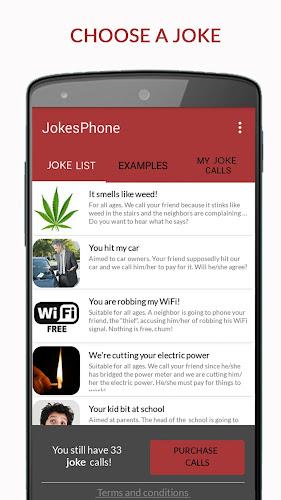 JokesPhone - Joke Calls Android App Screenshot