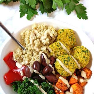 Mediterranean Bowl with Falafels Recipe