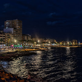 Torrevieja by Knut Saglien - City,  Street & Park  Night ( torrevieja, spania, beach, nightscape, night shot )