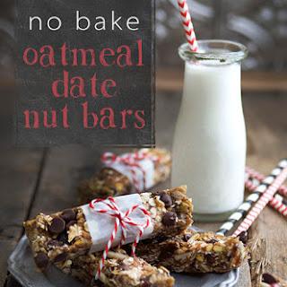 No Bake Oatmeal Date Nut Bars.