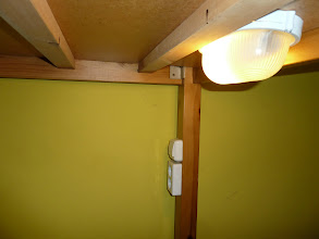 Photo: Each lower bunk bed has its own light and plug system