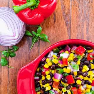 Quick and Easy Black Bean, Corn, and Pepper Salad Recipe