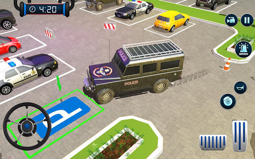 Police Car Parking: Police Jeep Driving Games screenshots 21