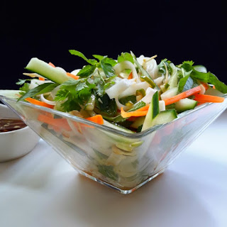 Vietnamese Rice Noodle Salad with Vegetables and Mixed Herbs Recipe