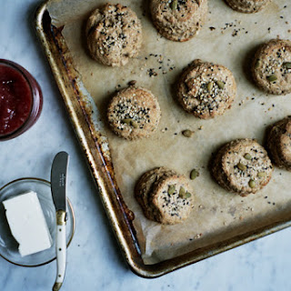 Seeded Whole Grain Scones with Tahini