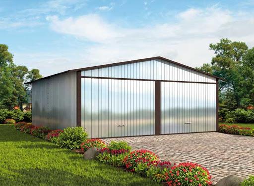 projekt GB63 Garaż Blaszany Dwustanowiskowy