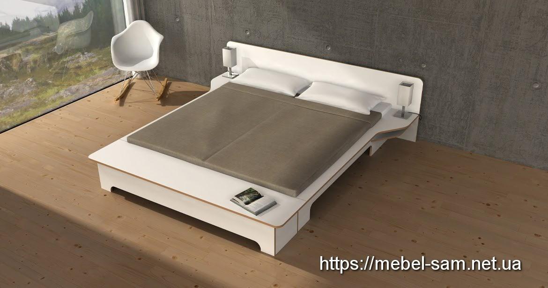 Шикарная двуспальная кровать из фанеры