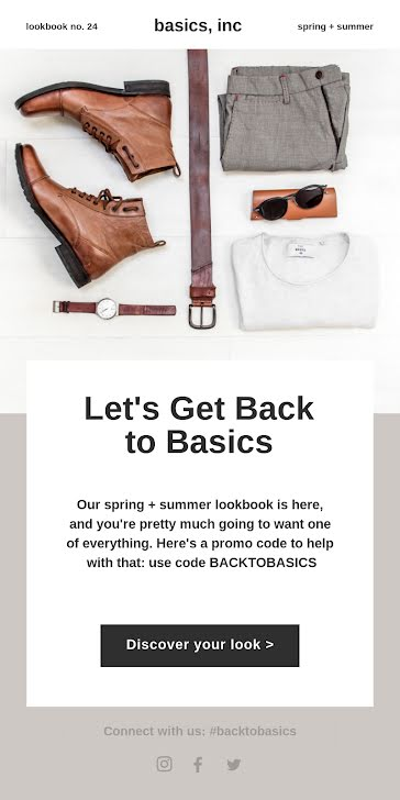 Let's Get Back to Basics - Medium Email Template